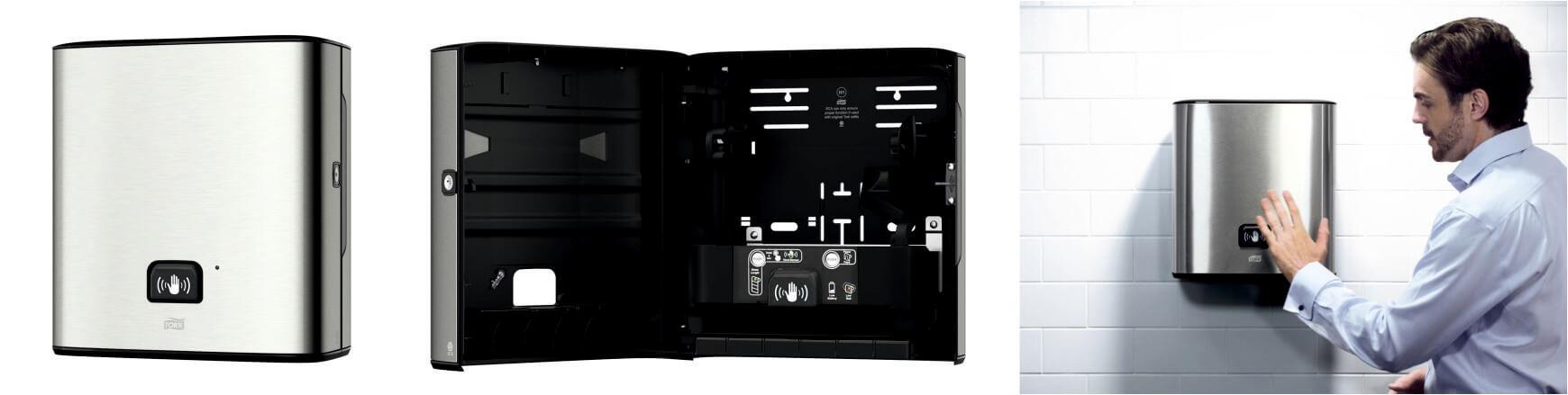 Tork Image Design диспенсер с сенсором для полотенец в рулонах Intuition® металл 460001