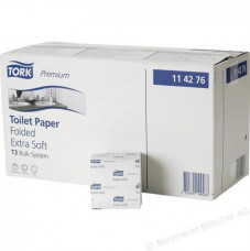 114276 Tork Premium листовая туалетная бумага мягкая, система T3