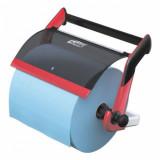 Настенный диспенсер для протирочных материалов в рулонах, система W1, красный 652108