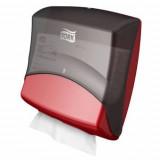 Настенный диспенсер для протирочных материалов в салфетках, система W4, черный 654008